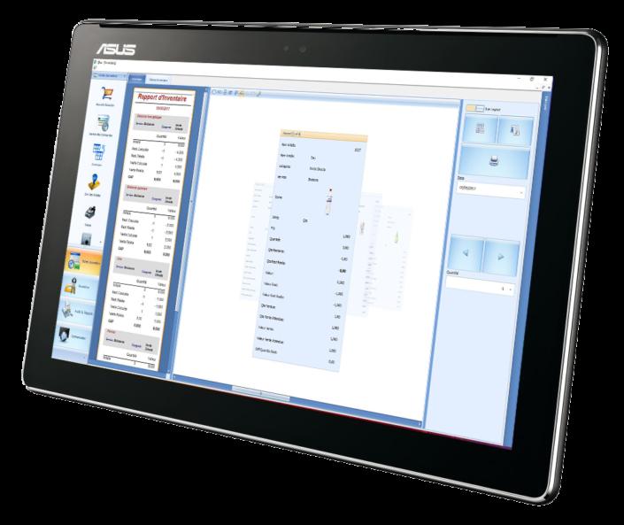 logiciel de caisse enregistreuse et gestion sur tablette