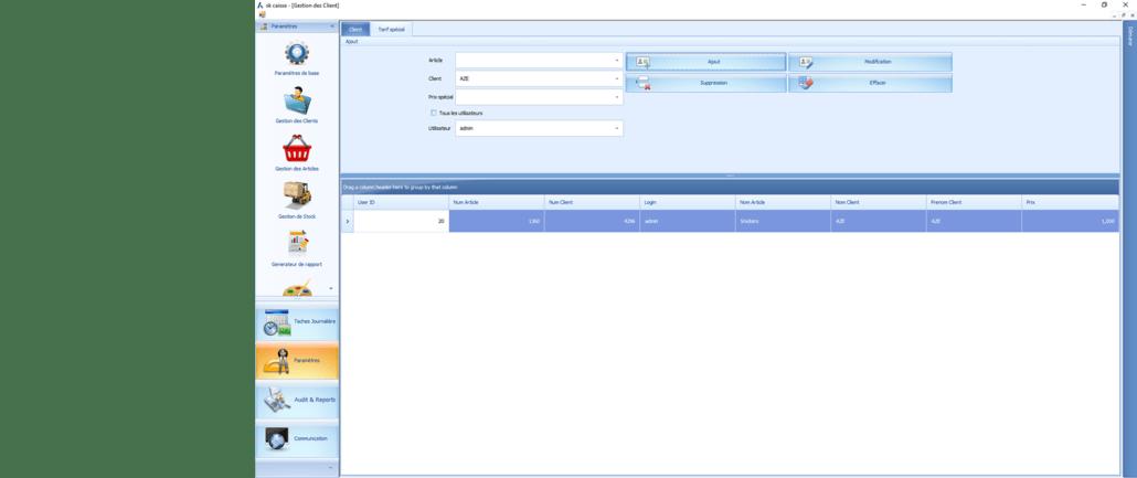 Askcaisse logiciel de caisse Mapping-clients_tarif