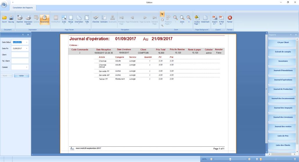 Askcaisse logiciel de caisse journal des operations